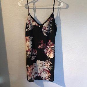 NWOT Socialite Black floral summer dress